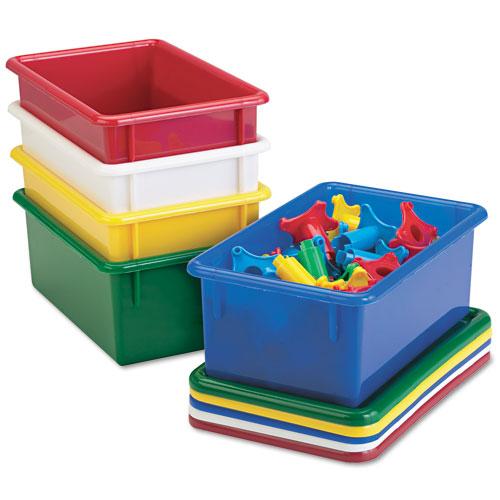 Cubbie Trays, 8-5/8w x 13-1/2d x 5-1/4h, Green. Picture 1