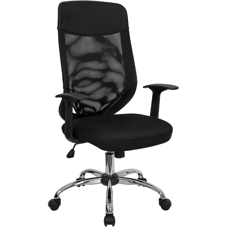High Back Black Mesh Executive Swivel Office Chair with  : lf w952 gg from www.bisonoffice.com size 460 x 794 jpeg 138kB