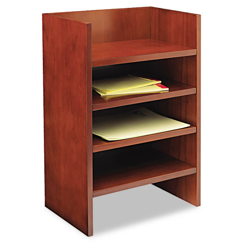 Mira Series Wood Veneer Hutch Letter Tray, 17w x 10d x 22H, Med Chry. Picture 1