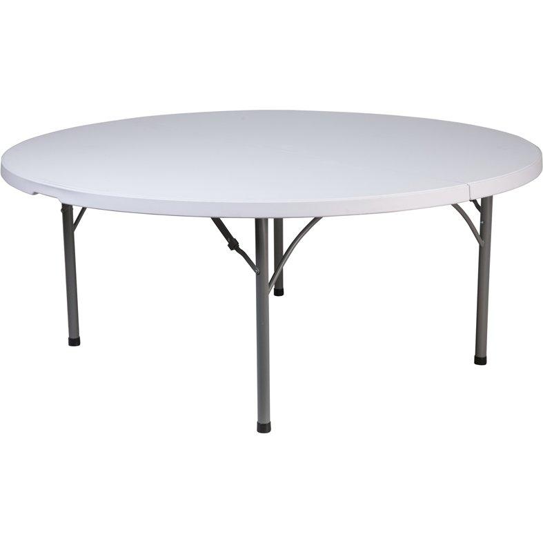 71 39 39 round granite white plastic folding table. Black Bedroom Furniture Sets. Home Design Ideas