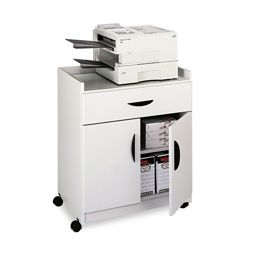 Mobile Laminate Machine Stand w/Pullout Drawer, 30w x 20-1/2d x 36-1/4h, Gray. Picture 3
