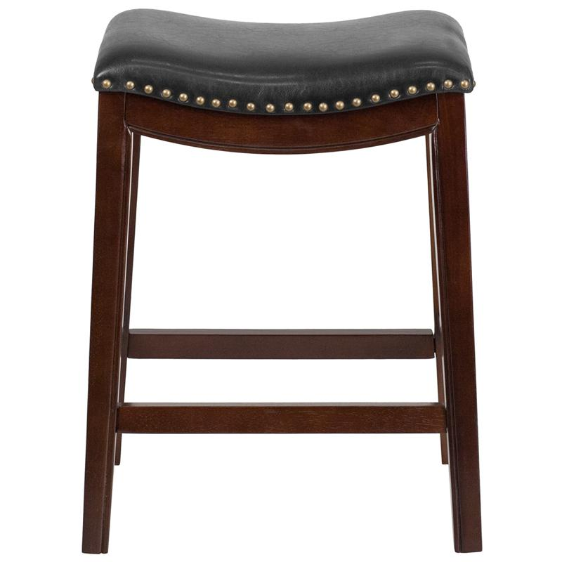 26 High Backless Cappuccino Wood Counter Height Stool