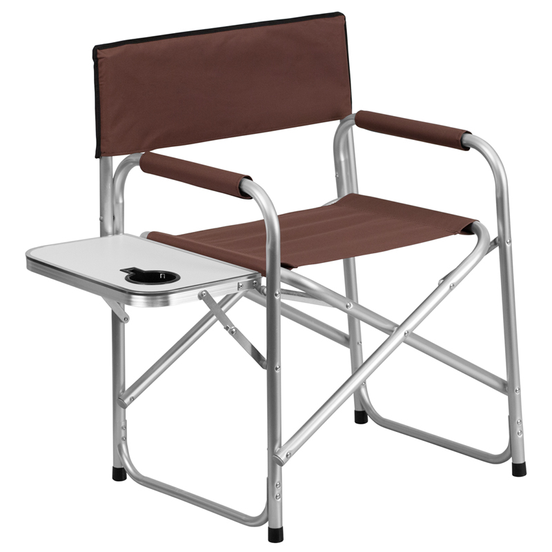 Aluminum Folding Camping Chair With Table And Drink Holder