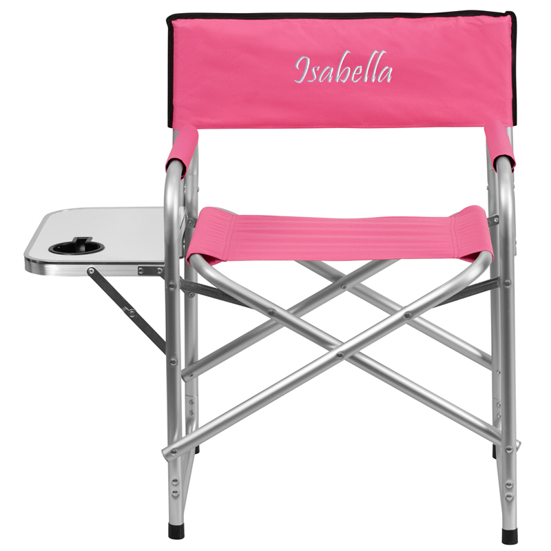Personalized Aluminum Folding Camping Chair With Table And