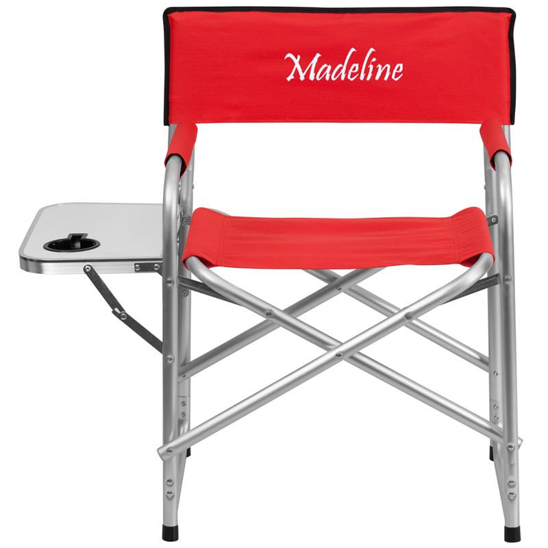 Personalized Aluminum Folding Camping Chair with Table and ...