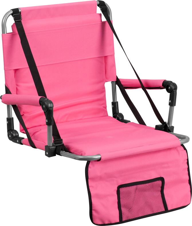 Folding Stadium Chair In Pink