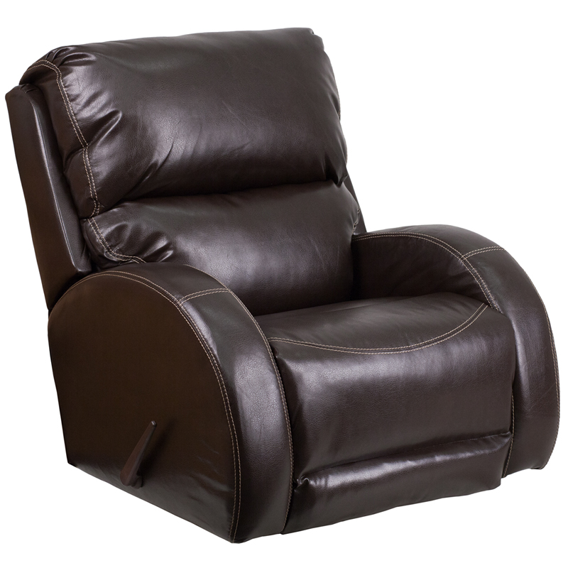 modern leather recliner contemporary ty brown leather rocker recliner 11725