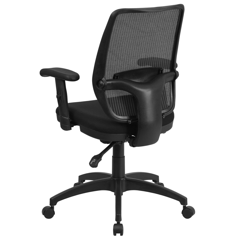 Mid Back Gray Mesh Executive Swivel Chair With Back Angle