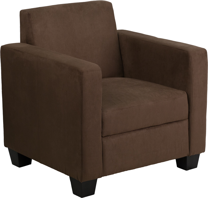 Grand series fedexable chocolate brown microfiber chair