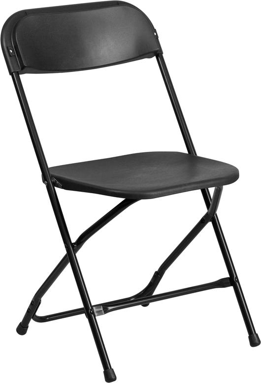 capacity black plastic folding chair - Padded Folding Chairs