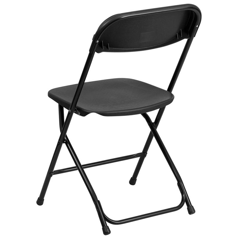 High Quality Capacity Black Plastic Folding Chair