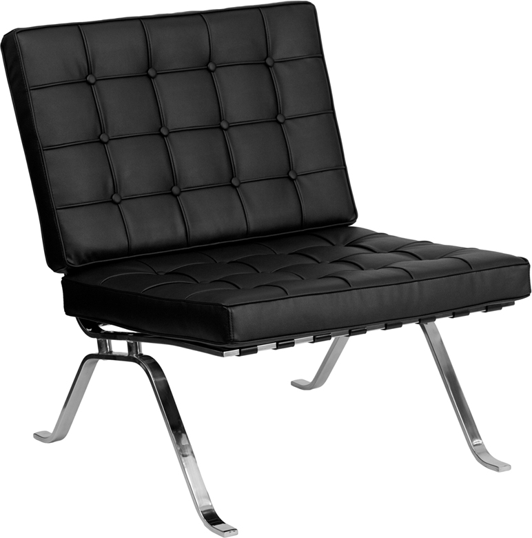 Hercules Flash Series Black Leather Lounge Chair With