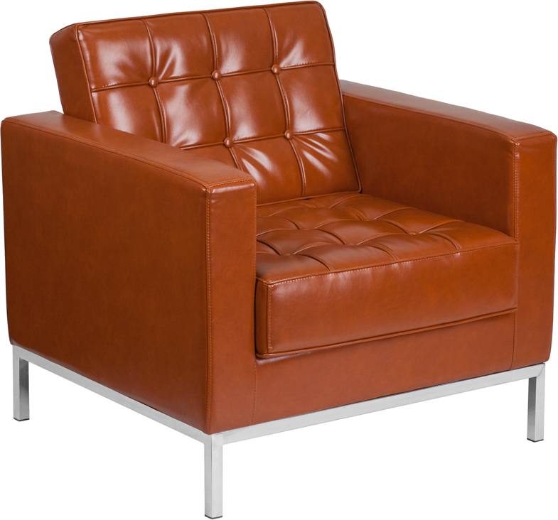 Hercules Lacey Series Contemporary Cognac Leather Chair