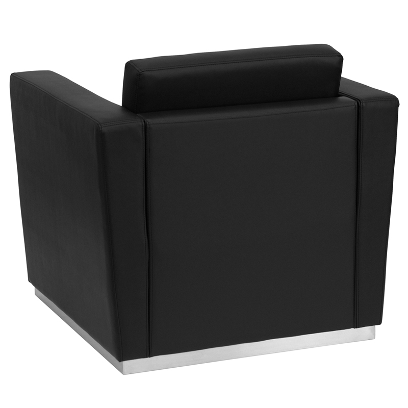 Hercules Trinity Series Contemporary Black Leather Chair