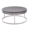 Sunset Coffee Table in Brushed Steel finish with Grey Top