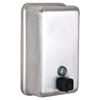 Alpine Industries Manual Surface-Mounted Stainless Steel Liquid Soap Dispenser, 40 oz Capacity, Vertical