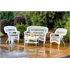 Tortuga Outdoor Portside 4Pc Seating - White - Miranda Terrace Chamomile
