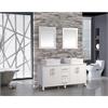 "MTD Vanities Aruba 71"" Double Sink Bathroom Vanity Set, White"