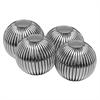 Modern Day Accents Raya Striped Sphere/3in - Set of 4