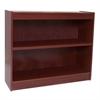 "Contemporary 36""H wood veneer bookcase, Medium Cherry"
