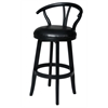 "Duke 30"" Swivel Stool, Black"