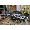 Tortuga Outdoor Portside 6Pc Seating - Dark Roast - Miranda Terrace Chamomile