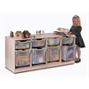 Clear Tray Quad Storage Cabinet