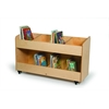 8 Section Mobile Book Storage Cabinet