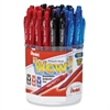 Pentel Wow Retractable Ball Point Pen Display - Black, Blue, Red Ink Color - 36 / Display Box