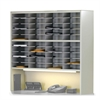 "Mailflow-To-Go Mailroom System - 46"" x 48"" x 13.5"" - 40 Compartment(s) - 2 Tier(s) - Steel - Gray"
