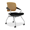 "Valore TSM2 Mid Back Chair - Fabric Orange Seat - Silver Frame - 21.5"" x 24.5"" x 36"" Overall Dimension"