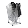 "Sled Base Stack Chair Cart - 500.00 lb Capacity - 4 x 3"" Caster - Steel - 23.5"" x 27.5"" x 17.0"" - Silver"