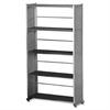 "Mayline Eastwinds 995 Accent Bookcase - 31.3"" x 11"" x 58"" - Steel, Thermofoil - 5 x Shelf(ves) - Medium Cherry"