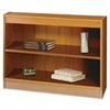 "Square-Edge Bookcase - 36.0"" x 12.0"" x 30.0"" - Particleboard, Wood - 2 x Shelf(ves) - Medium Oak"