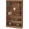 "Square-Edge Bookcase - 36.0"" x 12.0"" x 60.0"" - Particleboard, Wood - 5 x Shelf(ves) - Medium Oak"