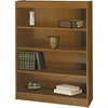 "Square-Edge Bookcase - 36.0"" x 12.0"" x 48.0"" - Particleboard, Wood - 4 x Shelf(ves) - Medium Oak"