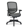 "Space 829 Series Duragrid Seat/Back Chair - Charcoal Black - Charcoal Seat - 27.5"" x 24.3"" x 45.3"" Overall Dimension"