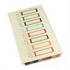 "Bottom Tab TOC Divider - 8 x Tab - 8.50"" x 14"" - 8 - Ivory Divider - Multicolor Tab"