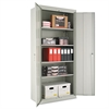 "Alera Assembled 78"" High Storage Cabinet, w/Adjustable Shelves, 36w x 18d, Light Gray"