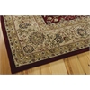 "Nourison Nourison 2000 Rectangle Rug  By Nourison, Burgundy, 7'9"" X 9'9"""