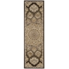 "Nourison Nourison 2000 Runner Rug  By Nourison, Brown, 2'3"" X 8'"