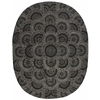 "2000 Oval Rug By, Black Grey, 7'6"" X 9'6"" Oval"