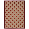 "Aloha Rectangle Rug By, Red, 5'3"" X 7'5"""