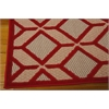 "Nourison Aloha Rectangle Rug  By Nourison, Red, 5'3"" X 7'5"""
