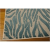 "Aloha Rectangle Rug By, Blue, 5'3"" X 7'5"""