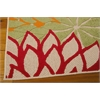 "Nourison Aloha Rectangle Rug  By Nourison, Green, 5'3"" X 7'5"""