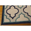 "Nourison Aloha Rectangle Rug  By Nourison, Navy, 5'3"" X 7'5"""