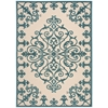 "Aloha Rectangle Rug By, Aqua, 5'3"" X 7'5"""