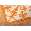 "Aloha Rectangle Rug By, Orange, 5'3"" X 7'5"""