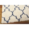 "Nourison Amore Rectangle Rug  By Nourison, Ivory Blue, 5'3"" X 7'5"""